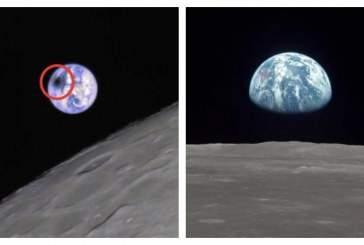 Опубликована фотография солнечного затмения с Луны