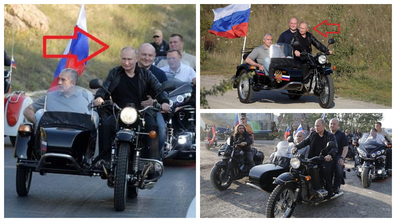 ГИБДД не станет выписывать штраф Путину за езду на мотоцикле без шлема