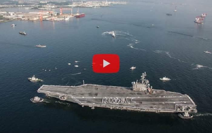 Вглобальной паутине появилось фото «окруженного» китайскими кораблями авианосца ВМС США