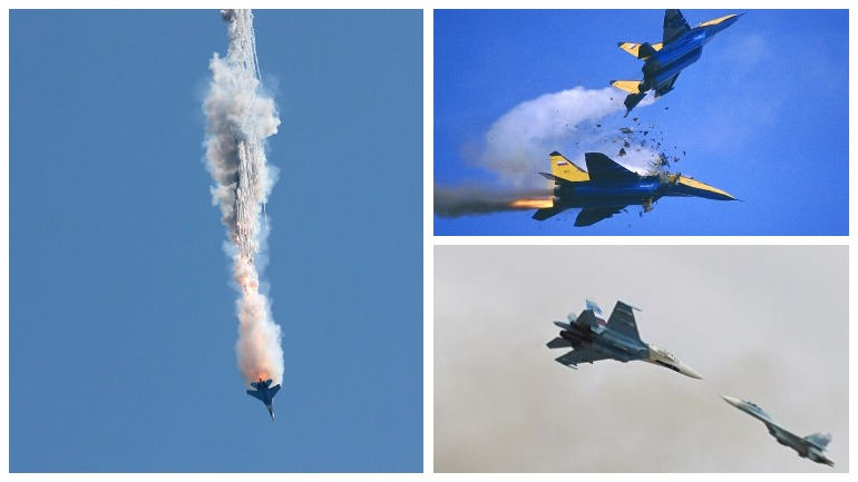 Два российских Су-34 столкнулись в небе под Липецком