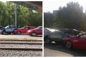 Массовая авария привела к огромной пробке в Казани
