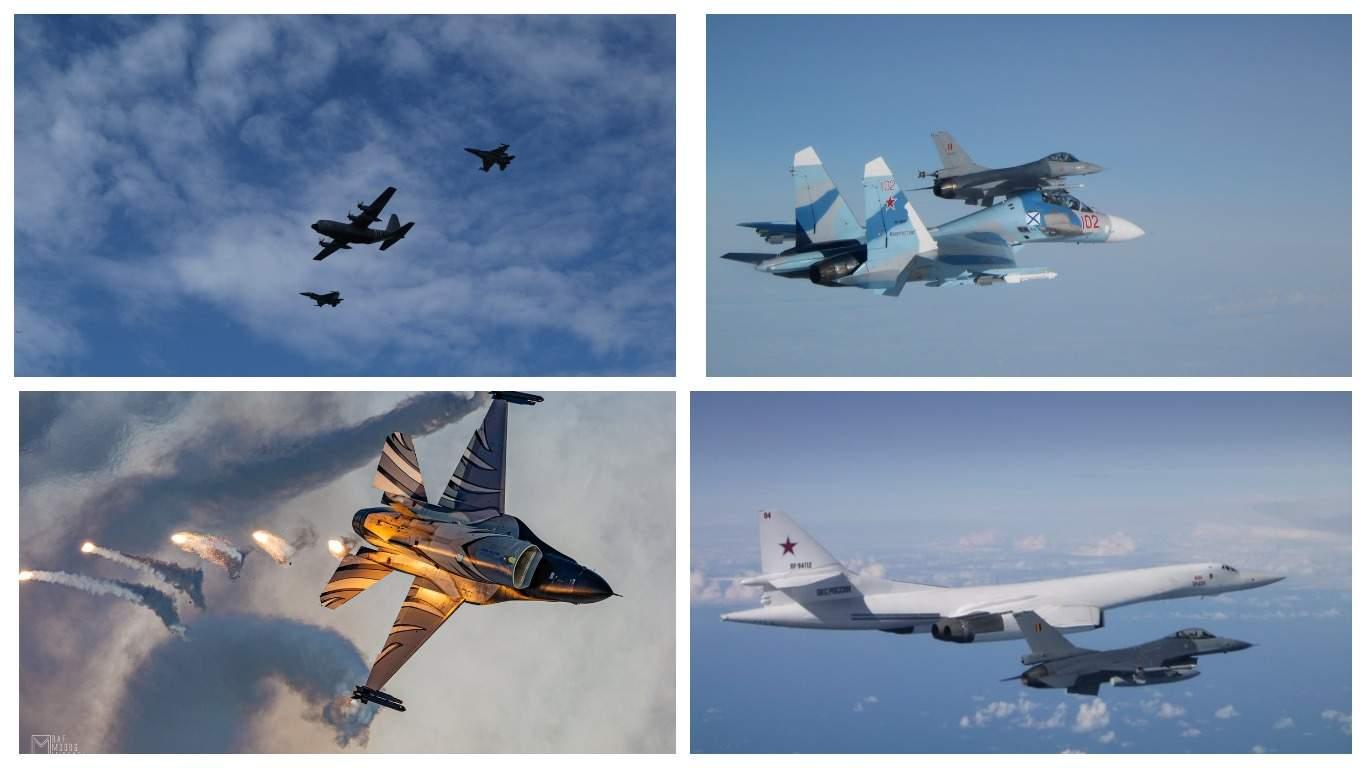 ВВС Бельгии сопроводили российские Ту-160 и Су-27 над Балтикой
