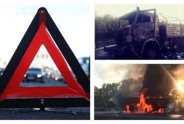 Девушка заживо сгорела в результате ДТП в Ростовой области