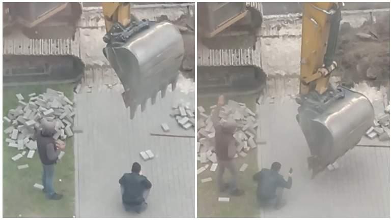 В Брянске сняли на видео трюк экскаваторщика с зажигалкой
