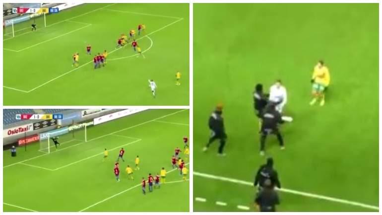 Вратарь забил красивый гол со штрафного на последних минутах матча