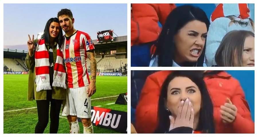Жена румынского футболиста прославилась благодаря эмоциям во время футбольного матча