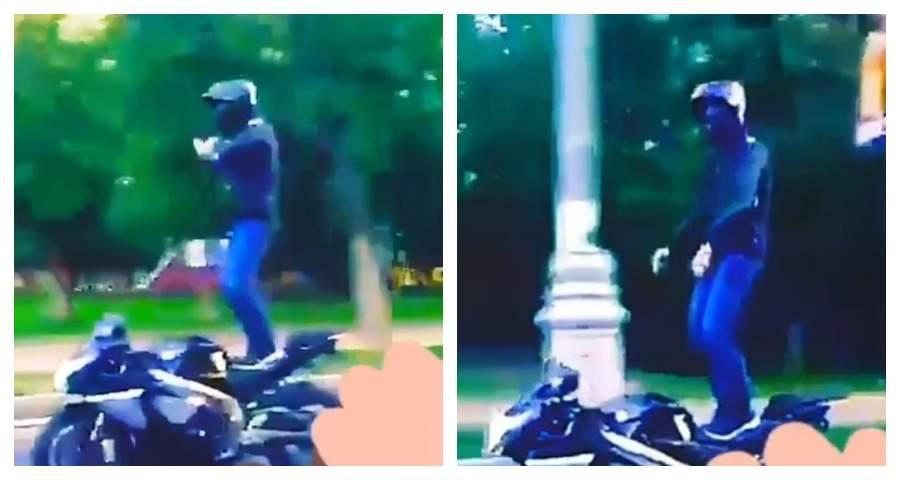 В КБР байкер исполнил лезгинку верхом на мотоцикле