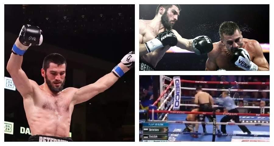 Бетербиев отправил в нокаут Гвоздика и стал чемпионом по версии WBC