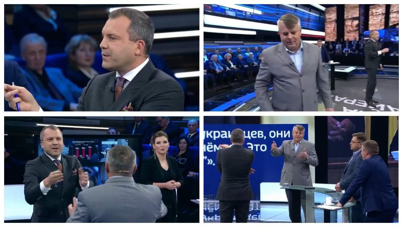 """Украинского политолога прогнали из студии программы """"60 минут"""""""