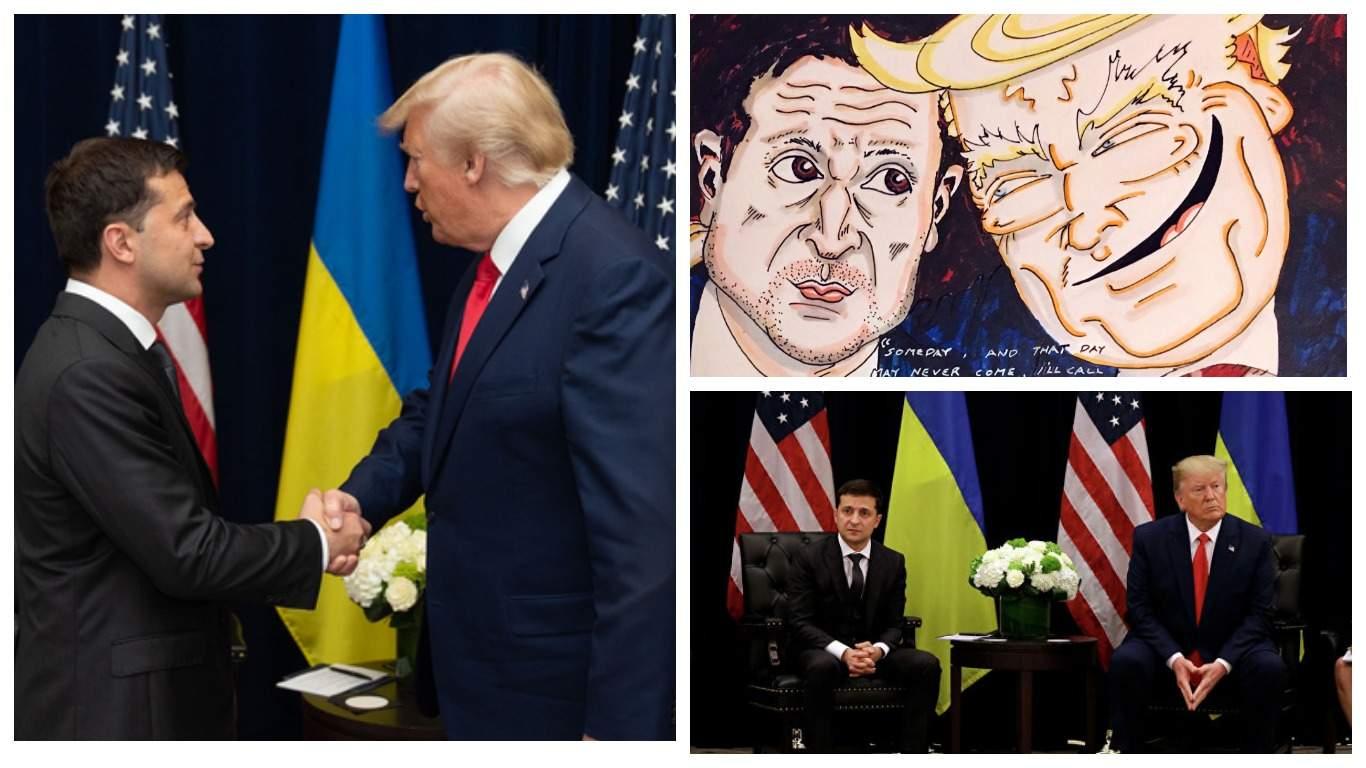 Джим Керри показал карикатуру на Трампа и Зеленского