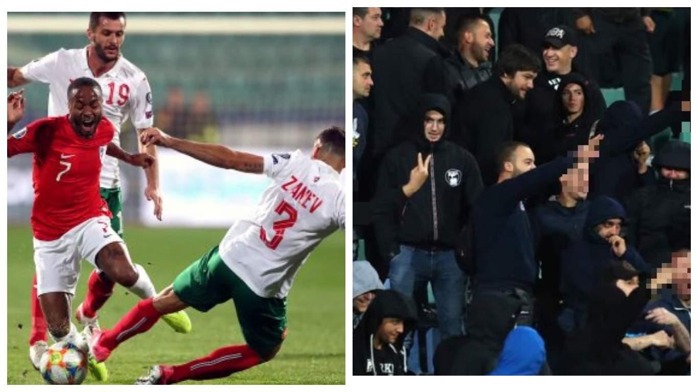 Матч между Англией и Болгарией прерывался из-за расистского поведения болельщиков