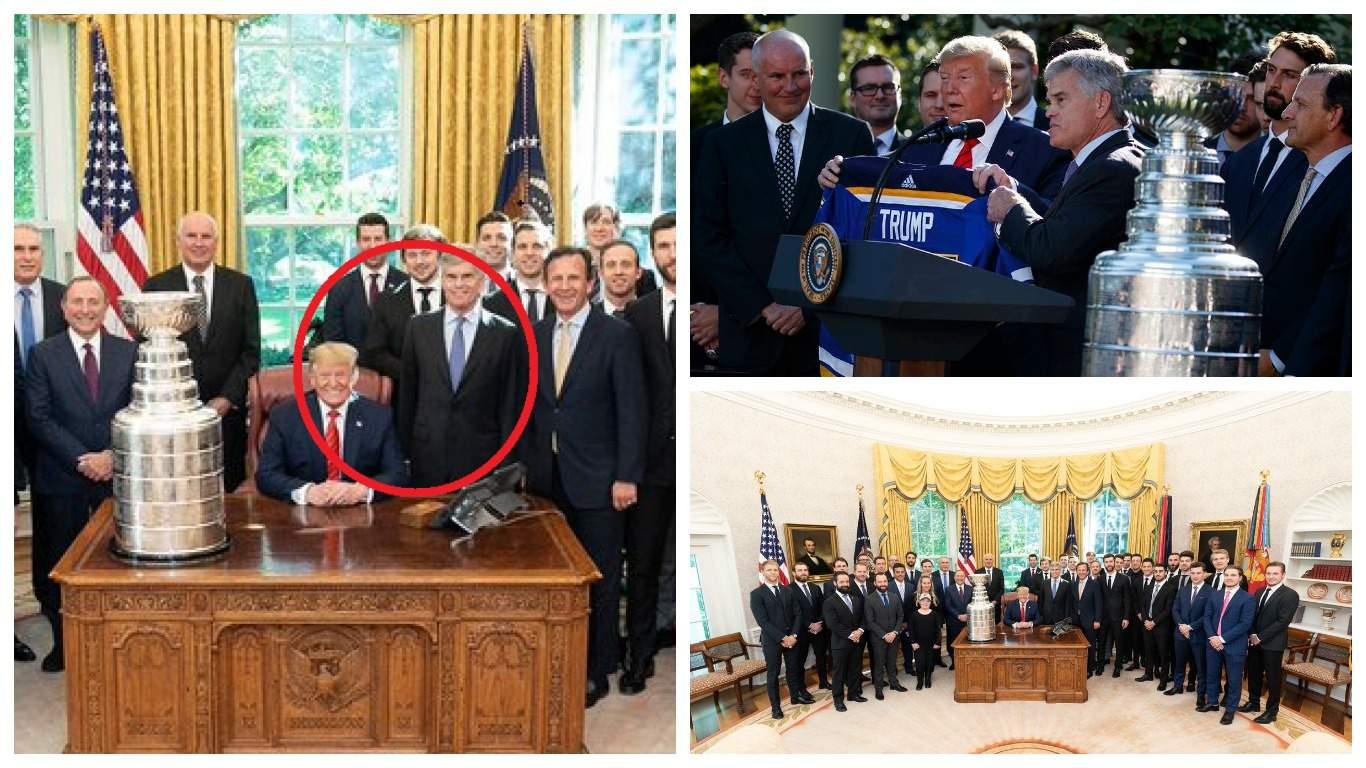 Тарасенко опёрся на кресло Дональда Трампа во время фотосъёмки в Белом доме