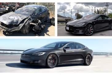 Владелец разбитой Tesla Model S не может избавиться от электрокара