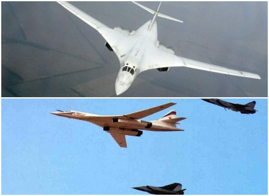 Российский бомбардировщик Ту-160 ушел от двух F-35 США, включив форсаж