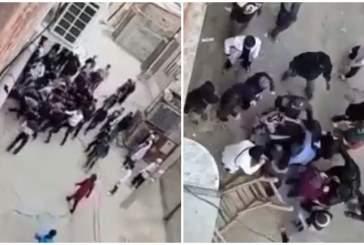 В Махачкале молодые люди устроили массовую драку из-за девушки