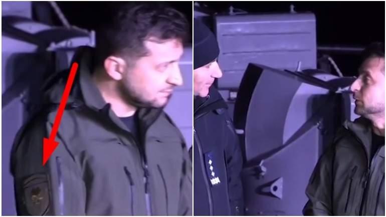 На одежде Зеленского заметили шеврон с черепом