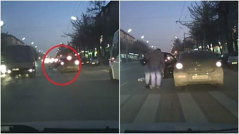 В Рязани водитель сбил женщину и увёз её в неизвестном направлении