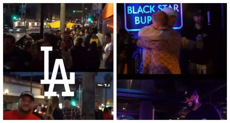 Джастин Бибер посетил открытие Black Star Burger в Лос-Анджелесе