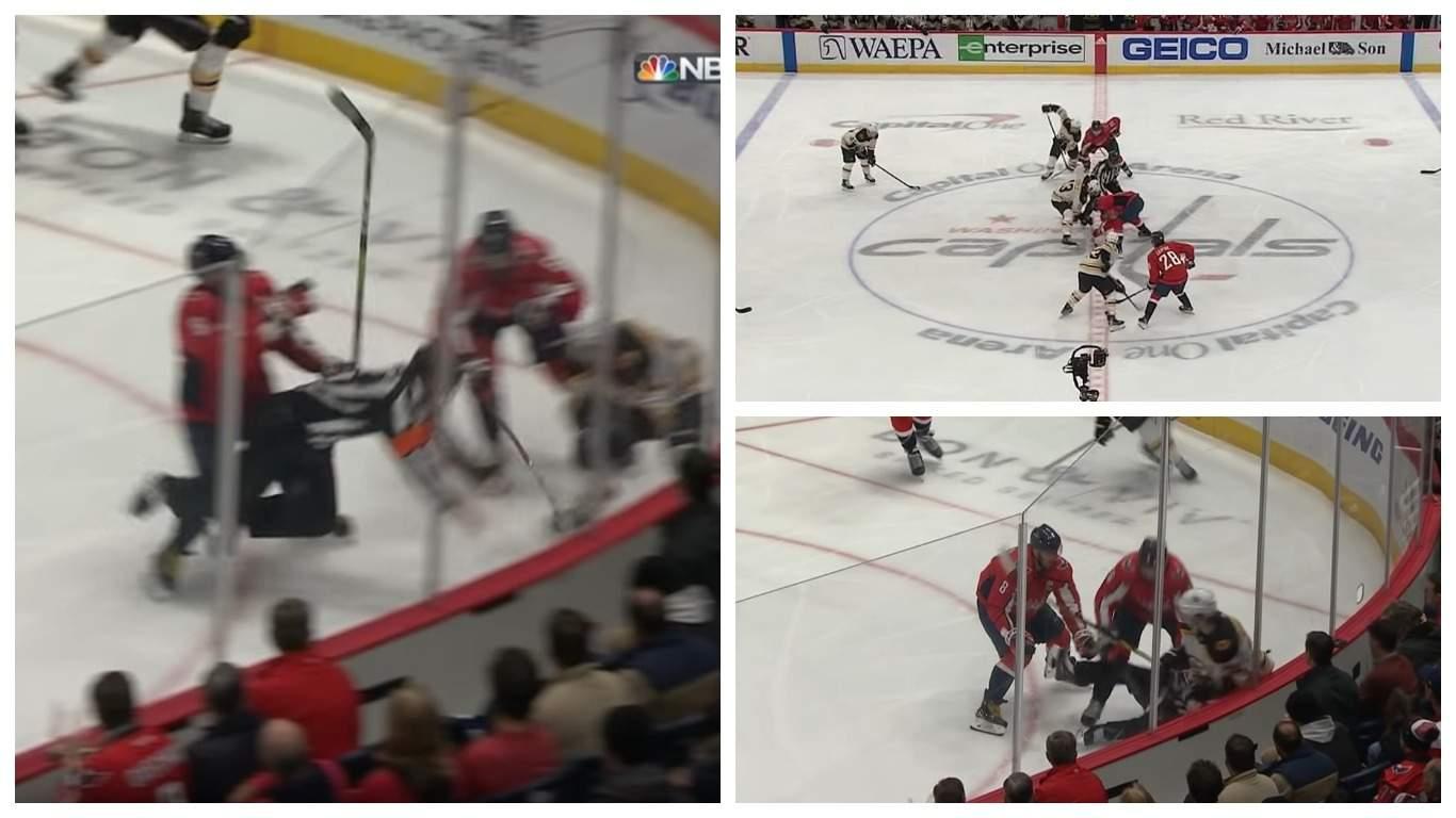 Видео: Овечкин использовал силовой прием на арбитре во время матча НХЛ