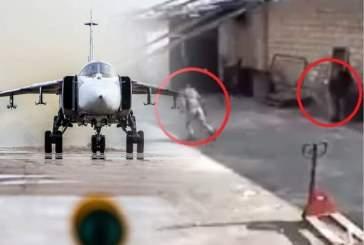 Появилось видео с разбегающимися террористами при звуке приближения Су-24