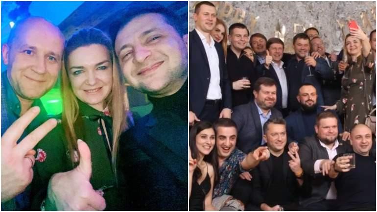 Пользователи Сети раскритиковали корпоратив партии Зеленского
