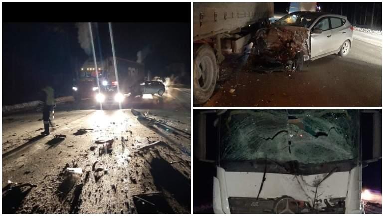 Отвалившиеся колесо от КамАЗа спровоцировало крупное ДТП