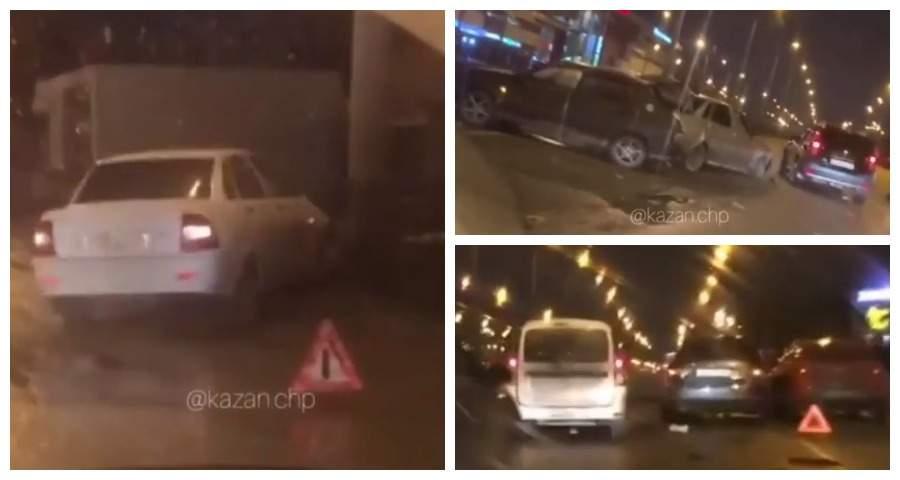 В Казани на проспекте Победы произошла массовая авария