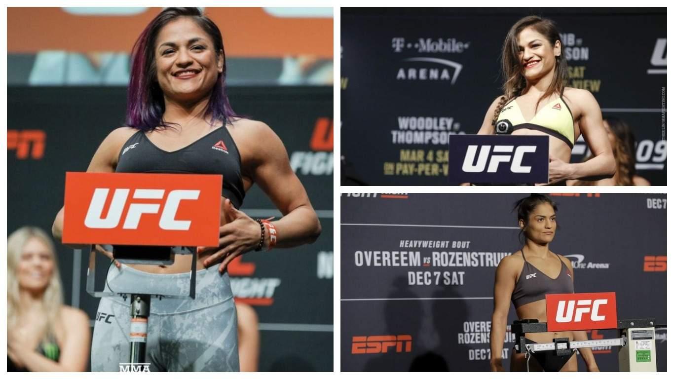 Появилось видео с обнажившейся девушкой-бойцом UFC во время взвешивания
