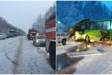 В Пермском крае в ДТП с участием автобуса пострадали 15 человек