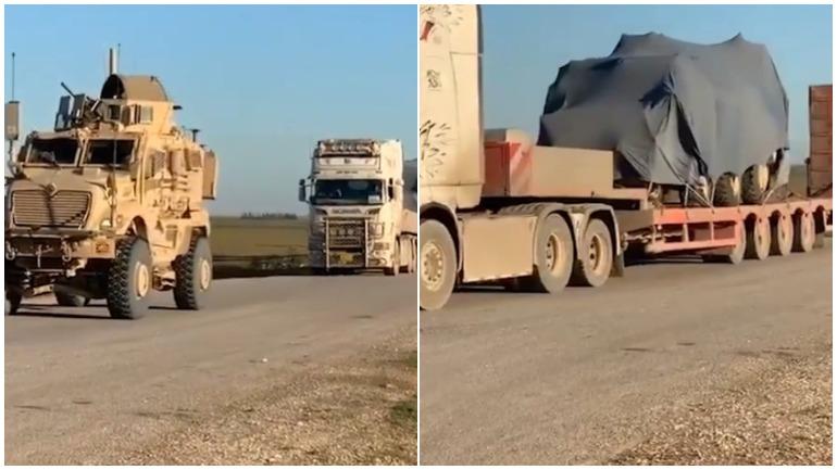 Появилось видео перемещения военной колонны США в Сирии