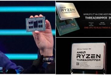 AMD представила 64-ядерный процессор Ryzen Threadripper 3990X