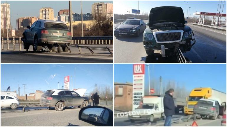 В Ростове женщина на Bentley стоимостью в 15 миллионов рублей врезалась в ограждение