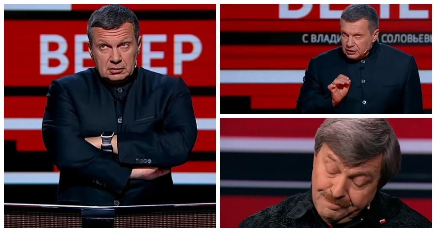 Соловьев накричал на эксперта из-за Польши в прямом эфире