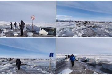 В Республике Алтай самопроизвольный взрыв на реке усыпал дорогу льдом