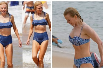 52-летняя Николь Кидман продемонстрировала подтянутую фигуру на пляже