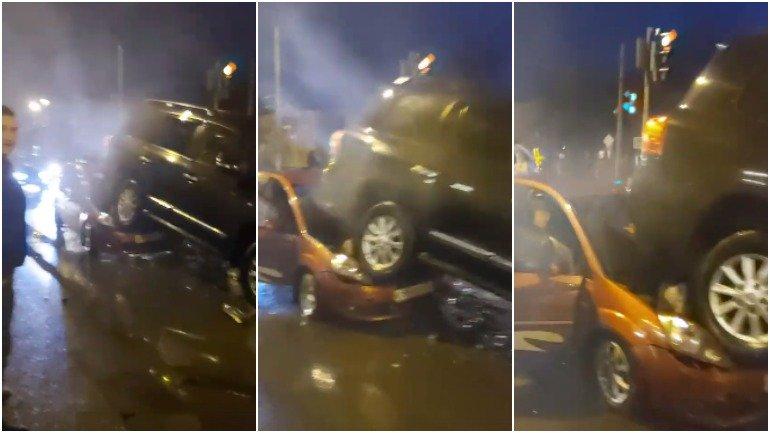 В Сети опубликовано видео массового ДТП в Брянске