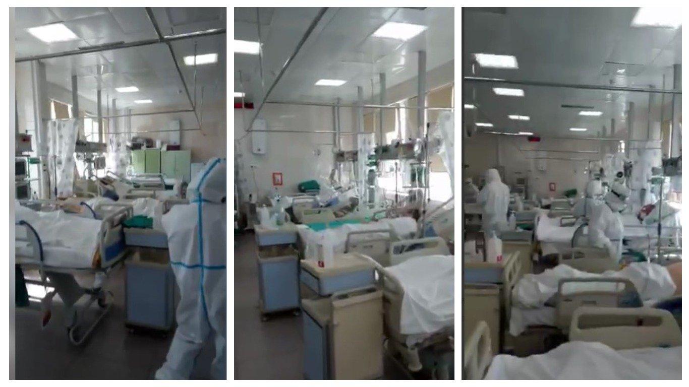 Врач московской больницы снял видео из реанимации с пациентами с коронавирусом