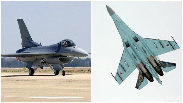 Польский F-16 выпустил шасси на высоте 5 километров после обнаружения российского Су-27