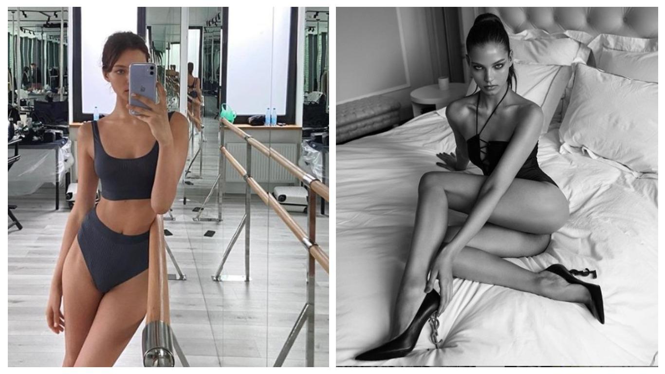 Алеся Кафельникова в бикини устроила танцы в центре Москвы