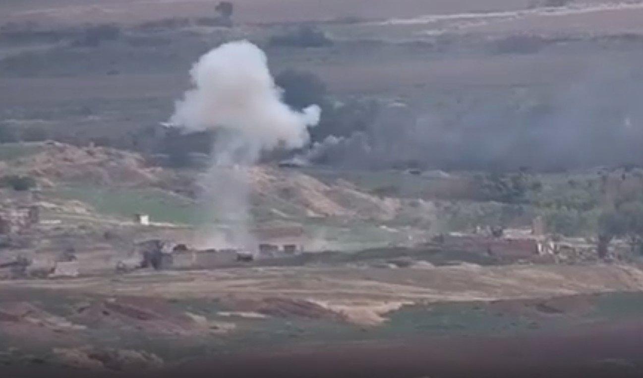 Минобороны Армении разместило видео уничтожения азербайджанских танков