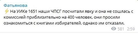 В Петроградском районе обнаружили расхождения при подсчете явки на выборы